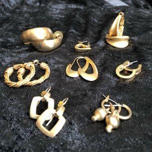 Brushed Gold Earrings Bundle